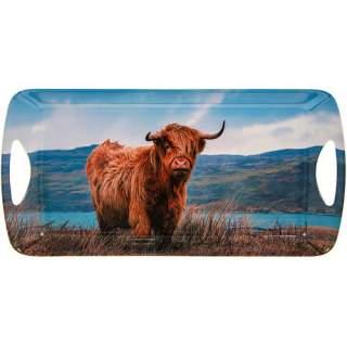 Ylämaan lehmä - tarjotin 41x20 cm