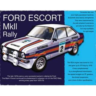 Escort Mk 2 Rally -peltikyltti 40x30 cm