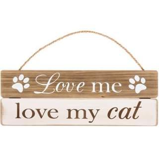 Love Me Love My Cat -seinäkyltti