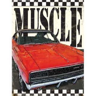 Dodge Muscle -peltikyltti 30x40 cm