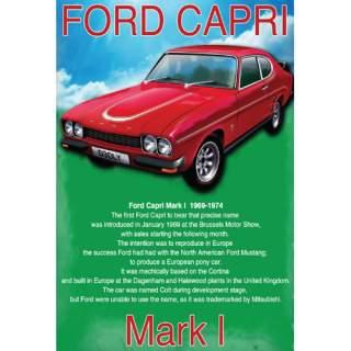 Ford Capri -peltikyltti 30x40 cm