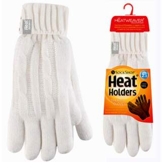 Heat Holders Lady sormikkaat valk. S/M
