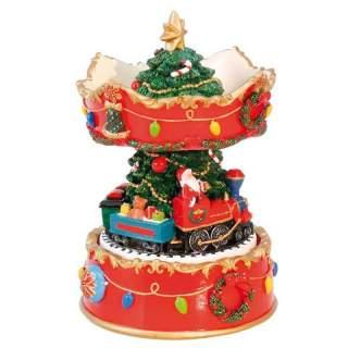 Karuselli-soittorasia Joulukuusi ja juna