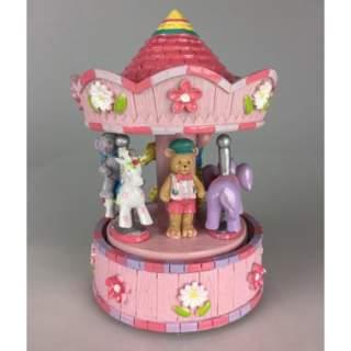 Lasten Karuselli-soittorasia pinkki