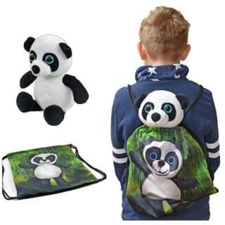 Selkäreppu + pehmo Panda