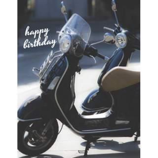 Happy Birthday -kortti skootteri