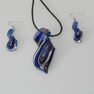 Lasikorusetti spiraali sininen*