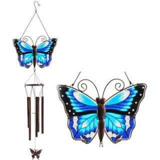 Perhonen -tuulikello sininen