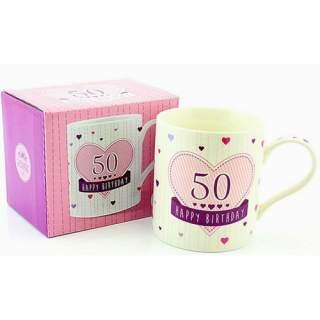 Synttärimuki Happy Birthday 50