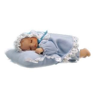 Vauva tyynyllä -soittorasia sininen