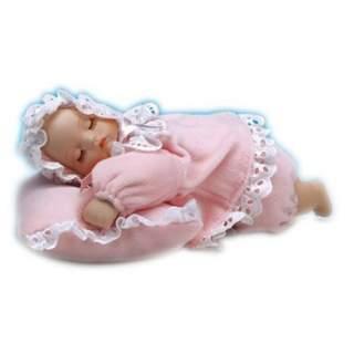 Vauva tyynyllä -soittorasia pinkki