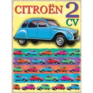 Citroen 2 CV -peltikyltti 30x40 cm