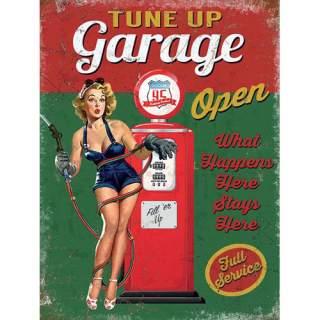 Garage Open -peltikyltti 30x40 cm