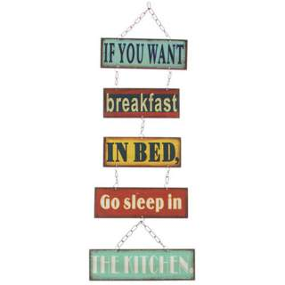Breakfast in Bed -seinäkyltti